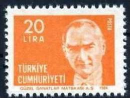 1984 TURKEY ATATURK PORTRAIT REGULAR ISSUE STAMP MNH ** - Ongebruikt