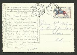 CROISEUR ECOLE JEANNE D'ARC / Carte Postale 15F Tapisserie Bayeux 25.07.1958 - Naval Post
