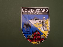 Blason écusson Adhésif Autocollant Col D'Izoard Aufkleber Wappen Sticker  Coat Arms Adhesivo Adesivo Stemma - Oggetti 'Ricordo Di'