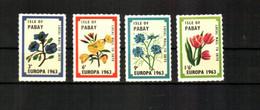 1963 Pabay (GB Local) - Flowers 4v.,  Bloemen, Blumen, Fleurs, Europa  MLH - Giftige Pflanzen