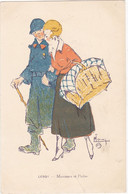 """ILLUSTRATEUR  LEROY : Les Femmes Et La Geurre 1914-18  """"Marraines Et Poilus""""  Edit: P.J Gallais  N° 91 - Andere Illustrators"""
