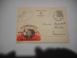 PUBLIBEL N° 1205 LE SUPER BOULET RESSAIX AFSTEMPELING ATTERT 1954 - Publibels