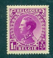 België 1934 Leopold III T.b.v. Oorlogsinvaliden 1F+25c Paarsrose OPB 392 Postfris MNH - 1934-1935 Léopold III