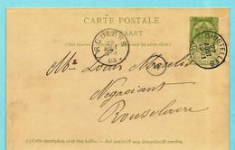 Postkaart Type N°45 - Manuscript Moere, Afst. GHISTELLES 27/08/1903 Naar Roeselare - Maselis - AK [1871-09]