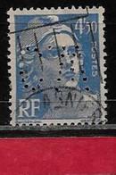 N7  Perfin France Perfore C.W 379 Sur Gandon N° 718a - Perfins