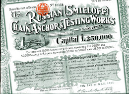 The RUSSIAN (SMIELOFF) CHAIN, ANCHOR & TESTING WORKS, Limited - Russia