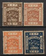 Palestine, British Mandate 1918, 1m, 3m, 5m & 1p. Used. - Palestine