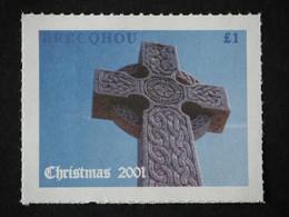2001 Brecqhou Island (GB Local) - Christmas 1v., Cross, Monument MLH - Emissione Locali