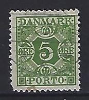 Denmark  1934  Postage Due  5 Ore (o) Mi.27 - Port Dû (Taxe)
