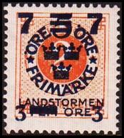 1918. Landstorm III. 7+3 On 5+Fem Öre On 2 ö Orange Wmk Wavy Lines. / + KPV. FACIT 12... (Michel 115) - JF414270 - Neufs