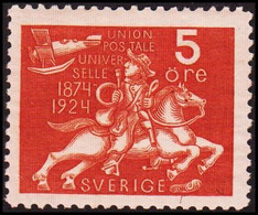1924. Universal Postal Union (UPU). 5 ö Red Brown.  (Michel 159) - JF414280 - Nuevos