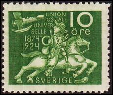 1924. Universal Postal Union (UPU). 10 ö Green Without Watermark.  (Michel 160W) - JF414281 - Nuevos