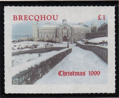 1999 Brecqhou Island (GB Local) -  Christmas, Castle 1v., Winter MLH - Emissione Locali