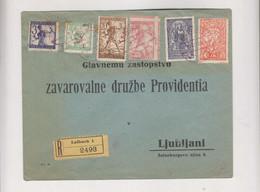 SLOVENIA,1920 SHS LJUBLJANA Nice Registered Cover Red Cancel - Slovénie