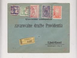 SLOVENIA,1920 SHS LJUBLJANA Nice Registered Cover Red Cancel - Slovenië