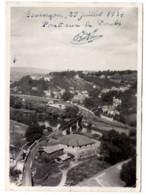 Besançon 1934 Photo  6x8.5cm Pont Ferroviaire Sur Doubs La Tour De Rivotte Chemin De Fer Vue Aérienne - Luoghi
