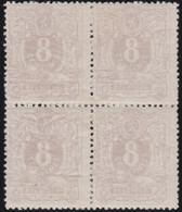 Belgie     .  OBP  .  29   Blok Van 4   (2 Scans)       .  *    .  Neuf Avec Gomme Et Charnière    .  /  .  Ongebruikt - 1869-1888 Lion Couché (Liegender Löwe)