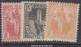 Guinée Taxe 30c 50c 60c Neufs * TB (Dallay N° 4, 5, 6 , Cote: 40€ ) - Ungebraucht