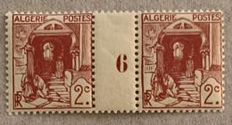 ALGÉRIE 1926 - YT35** - RUE DE LA CASBAH (MILLESIME 6) - Paire - Unused Stamps