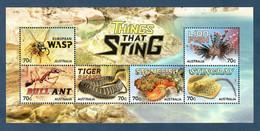 Australien 2014  Mi.Nr.  Sheet 221 (4187 / 92) , Things That Sting - Postfrisch / MNH / (**) - Ongebruikt