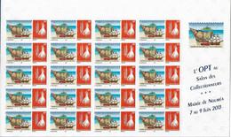 NOUVELLE CALEDONIE (New Caledonia)- 2 Planches Du Timbre Personnalisé - OPT - 2013 - Salon Collectionneurs Nouméa - Nuevos