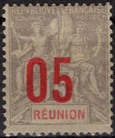 REUNION  73 * MLH Type Groupe 1912 Surcharge [ColCla] - Gebruikt