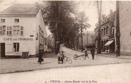 Virton Avenue Bouvier Cycliste Brouette  Café Du Tribunal Circulé En 1926 - Virton