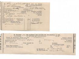 Extraits De Registres Aux Permis De Circulation Pour Trajets De Bateaux Wépion -Velaine Et Wepion -Namur 1894 - 1800 – 1899
