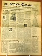 BP-320 CUBA  ANTICOMMUNIST NEWSPAPER ACCION CUBANA ESPAÑA PRINTING 10/MAY/1962. - [4] Themes