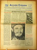BP-324 CUBA ESPAÑA ANTICOMMUNIST NEWSPAPER ACCION CUBANA ESPAÑA PRINTING 5/NOV/1960. - [4] Themes