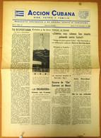BP-326 CUBA ESPAÑA ANTICOMMUNIST NEWSPAPER ACCION CUBANA ESPAÑA PRINTING 15/DIC/1960. - [4] Themes