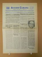 BP-329 CUBA ESPAÑA ANTICOMMUNIST NEWSPAPER ACCION CUBANA ESPAÑA PRINTING 23/MAR/1961. - [4] Themes