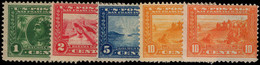 USA 1913 Panama-Pacific Exposition Perf 12 Set Mounted Mint. - Unused Stamps