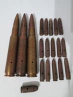 Lot Munitions WW2 Cartouches US Neutralisées Par Perçages Et Percutées - Decorative Weapons