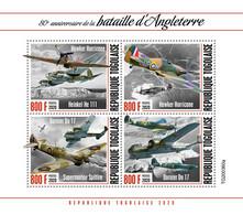 Togo  2020 Battle Of Britain,airplanes ,World War II  S202012 - Togo (1960-...)