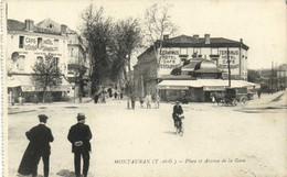 MONTAUBAN  (T Et G) Place Et Avenue De La Gare Terminus Hotel  Hotel Continental Animée RV - Montauban