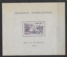 MADAGASCAR - Exposition Internationale Paris - Arts Et Techniques -1937 - BF 1** - Neuf** - Madagascar (1960-...)