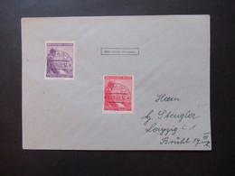 Böhmen Und Mähren 1943 Hitler Geburtstag Nr. 126 / 127 Sauber Gestempelt Prag 1 21.7.1943 Sammlerbeleg - Briefe U. Dokumente