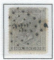 "COB 17 Léopold Ier ""Profile"" -  Bureau De Poste De :   L 232  MALDEGHEM - 1865-1866 Perfil Izquierdo"