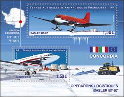 T.A.A.F. // F.S.A.T. 2021 - Avion Blaster BT-67, Drapeaux - BF Neufs // Mnh - Unused Stamps