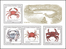 T.A.A.F. // F.S.A.T. 2021 - Faune, Crabes De St Paul - BF Neufs // Mnh - Unused Stamps