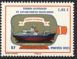 T.A.A.F. // F.S.A.T. 2021 - Bateau Marion Dufresne - 1 Val Neufs // Mnh - Unused Stamps