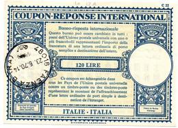 Italia - Coupon-réponse Modèle Lo 17 A - 120 Lire - Faenza 1970 - IRC CRI IAS - - Stamped Stationery