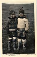 Grönland, Zwei Eskimo Mädchen In Nugsuak, NW Grönland, Phot. Dr. Arnold Heim - Groenlandia
