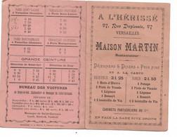 A L'Hérissé Versailles Maison Martin Restaurateur Avec Tous Les Transports & Horaires Pour Y Arriver (voitures) - Advertising