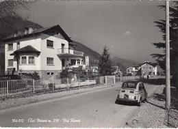 MIANE-TREVISO-VIA ROMA-AUTO CAR VOITURE=FIAT 500=-CARTOLINA VERA FOTOGRAFIA- VIAGGIATA IL 8-8-1962 - Treviso