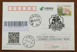 CN 20 Cangzhou Post Unite As One To Fight Novel Coronavirus Pneumonia COVID-19 Pandemic Commemorative PMK 1st Day Used - Malattie