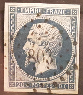 Empire No 14 B Obl Pc 803 De CHATELLERAULT, Vienne , Belle Frappe TB - 1853-1860 Napoleon III