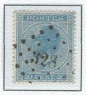 """COB 18A  Léopold Ier """"Profile"""" -  Bureau De Poste De :   L 328  ST NICOLAS - 1865-1866 Profil Gauche"""