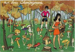 NOS BONS CHAMPIGNONS - CARTE HUMORISTIQUE - Otros